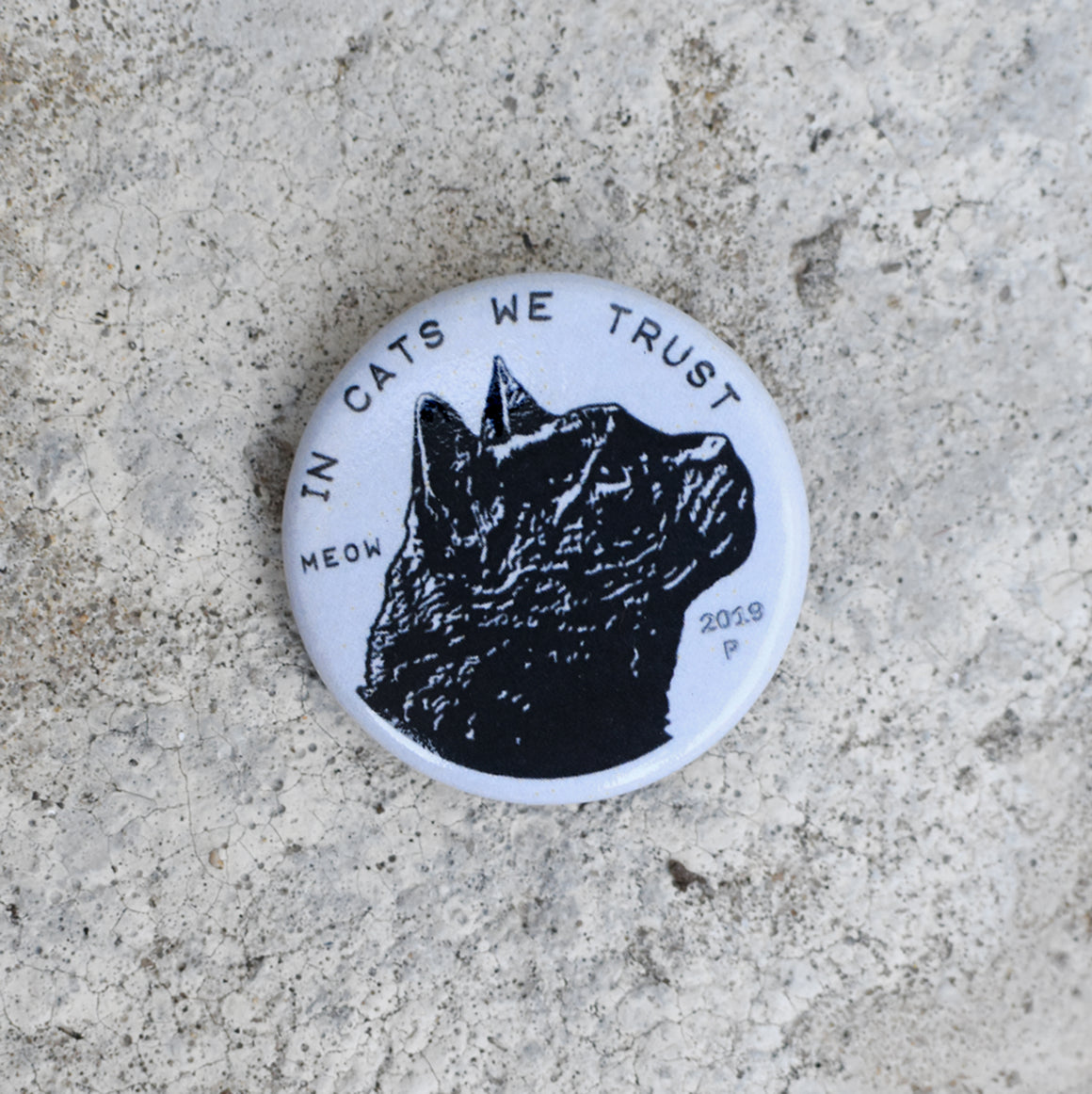 Cat Coin Pin-back Button by Xenotees