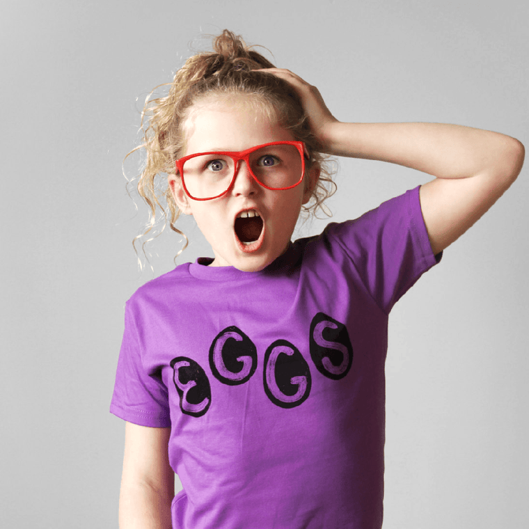 Kids Organic Eggs Shirt by Xenotees