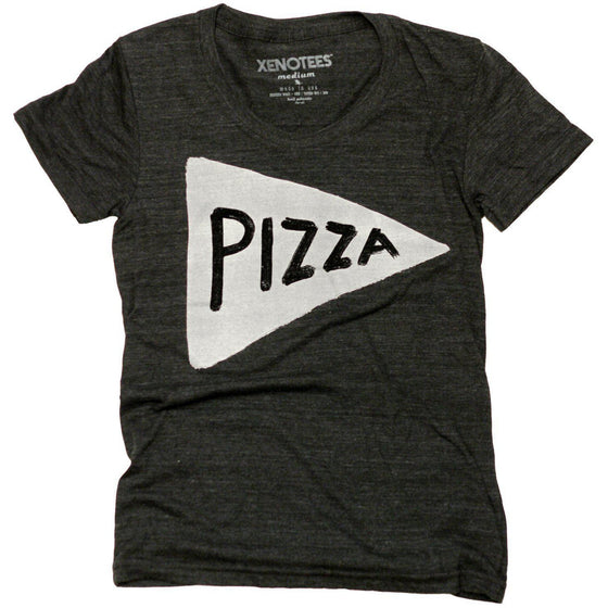 Womens Pizza Party Tshirt / Black by Xenotees