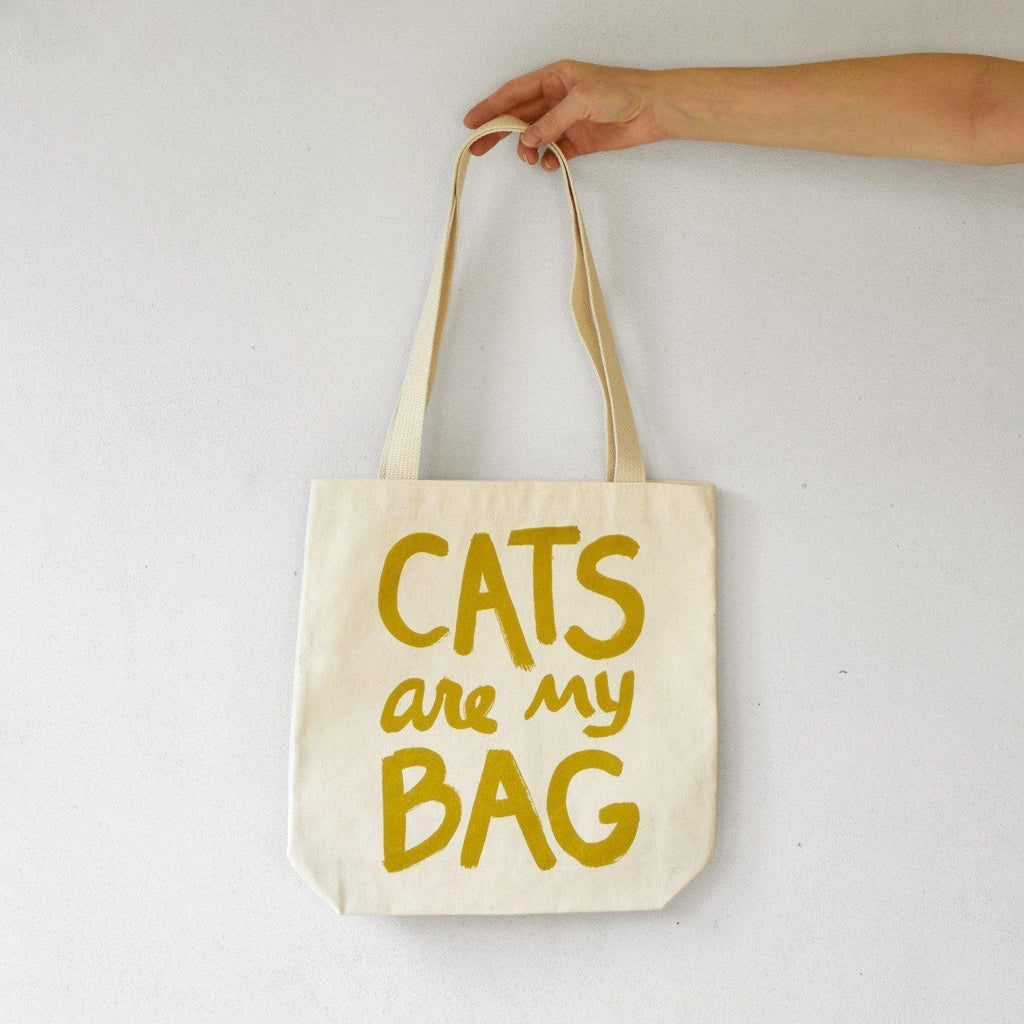 Cats Are My Bag Tote - Gold - Xenotees