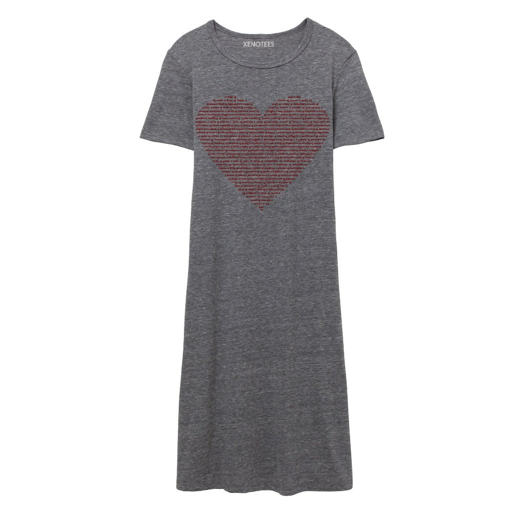 Funny Valentine Day Gift for Her, Flowy Tshirt Dress for Women