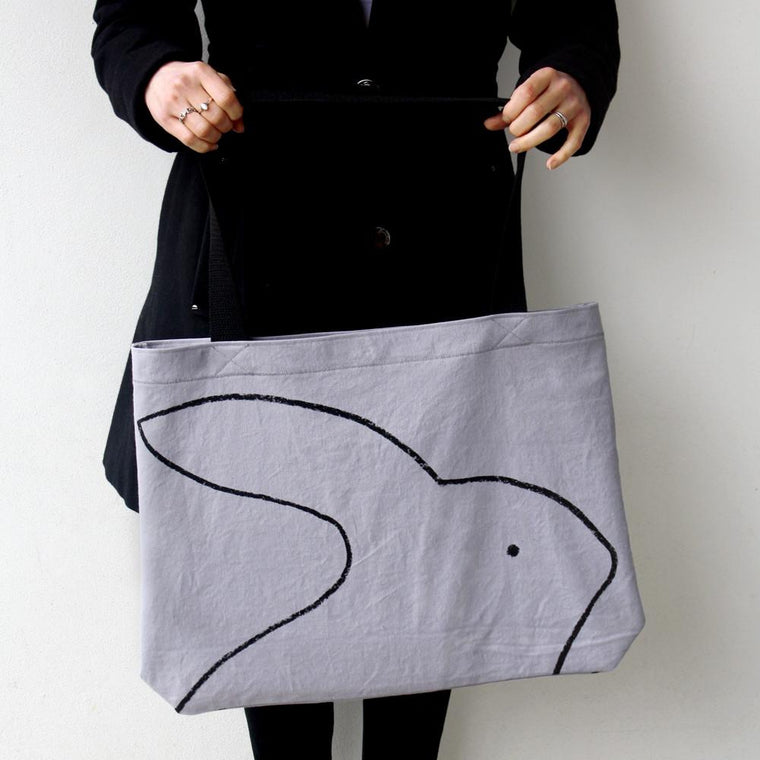 Over-sized Rabbit Tote Bag - Xenotees
