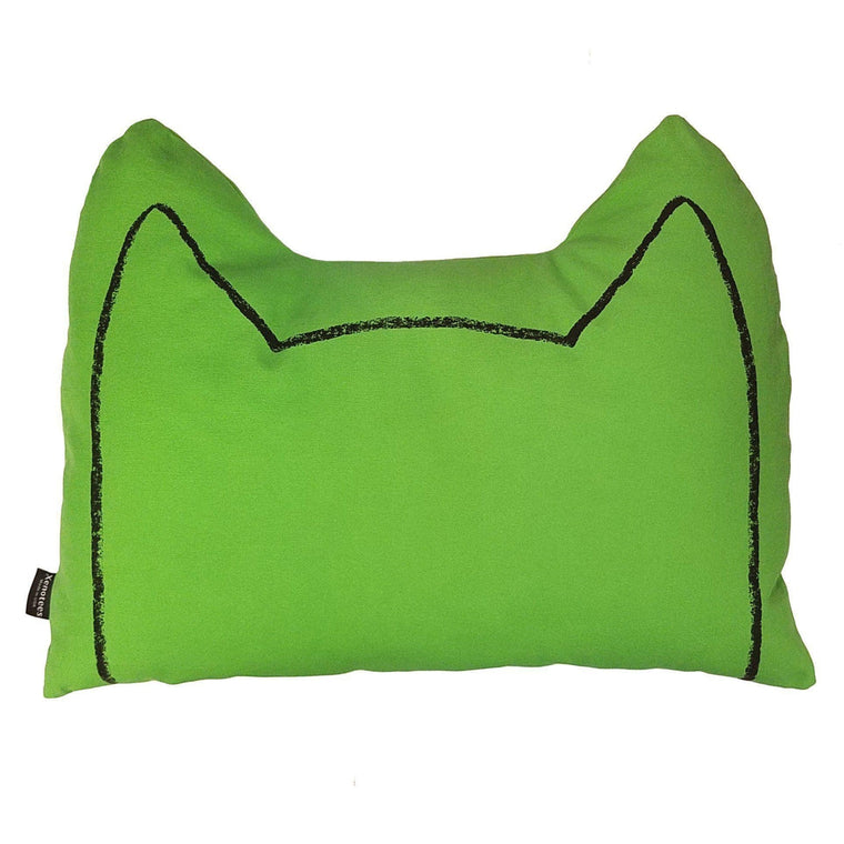 Pantone color of the year greenery handmade cat pillow!