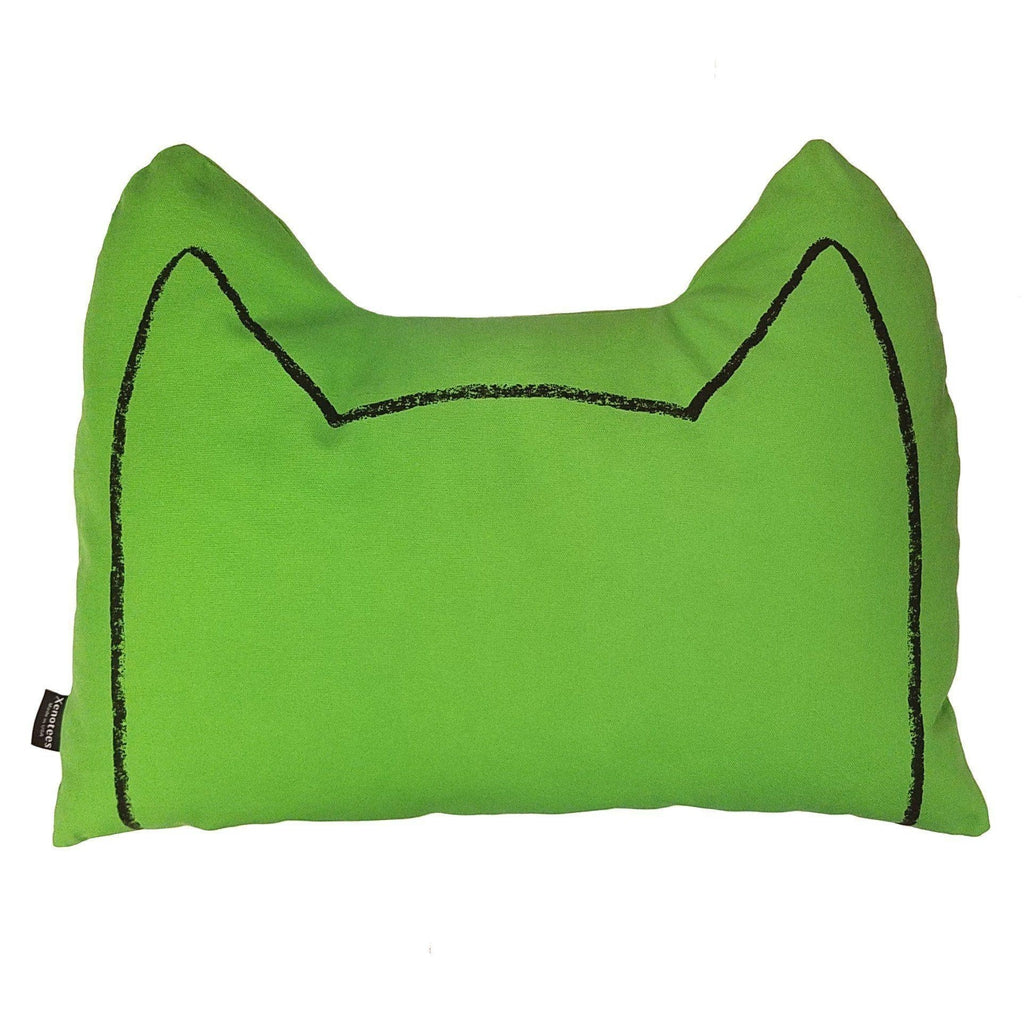 Cat Ears Throw Pillow by Xenotees
