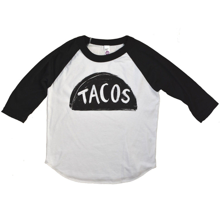 Kids Raglan Taco Shirt  - by Xenotees
