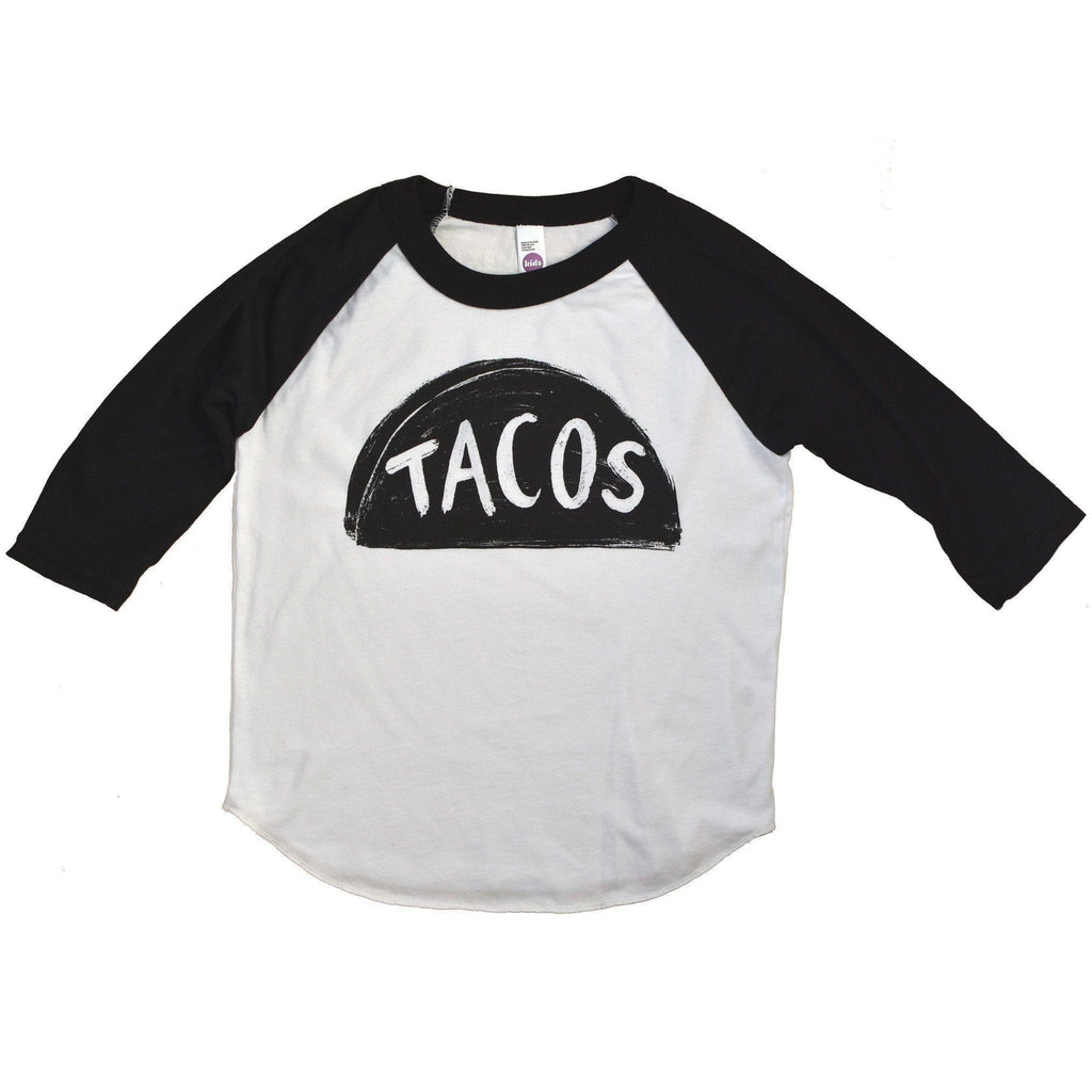 Kids Raglan Taco Shirt by Xenotees