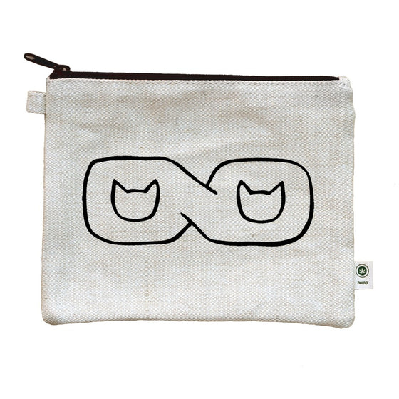 Infinity Cat Lovers' Canvas Zipper Pouch