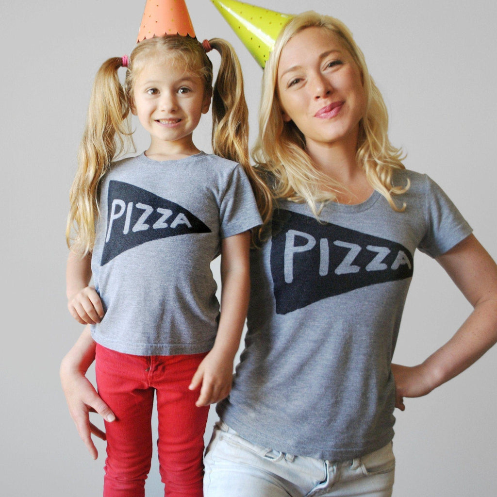 Pizza Slice Matching Mommy and Me Shirts by Xenotees