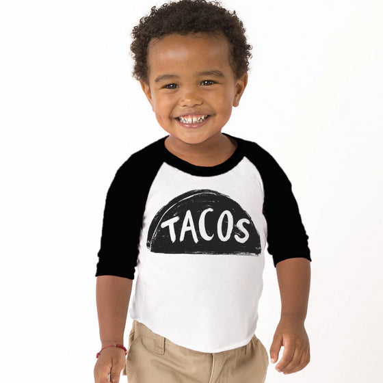 Baby / Kids Raglan Taco Baseball Shirt by Xenotees