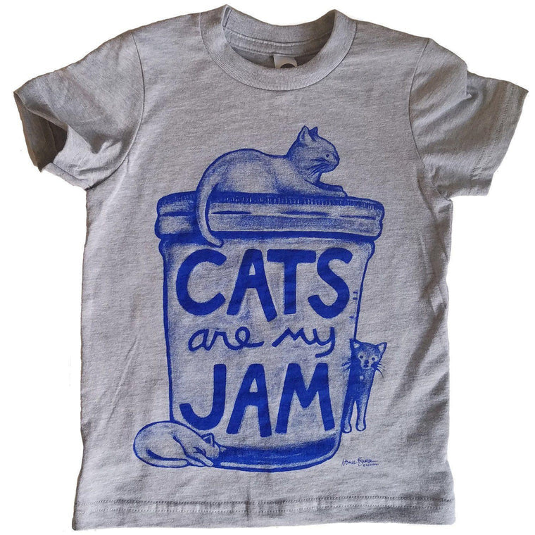 Cats are my Jam Kids T-shirt by Xenotees