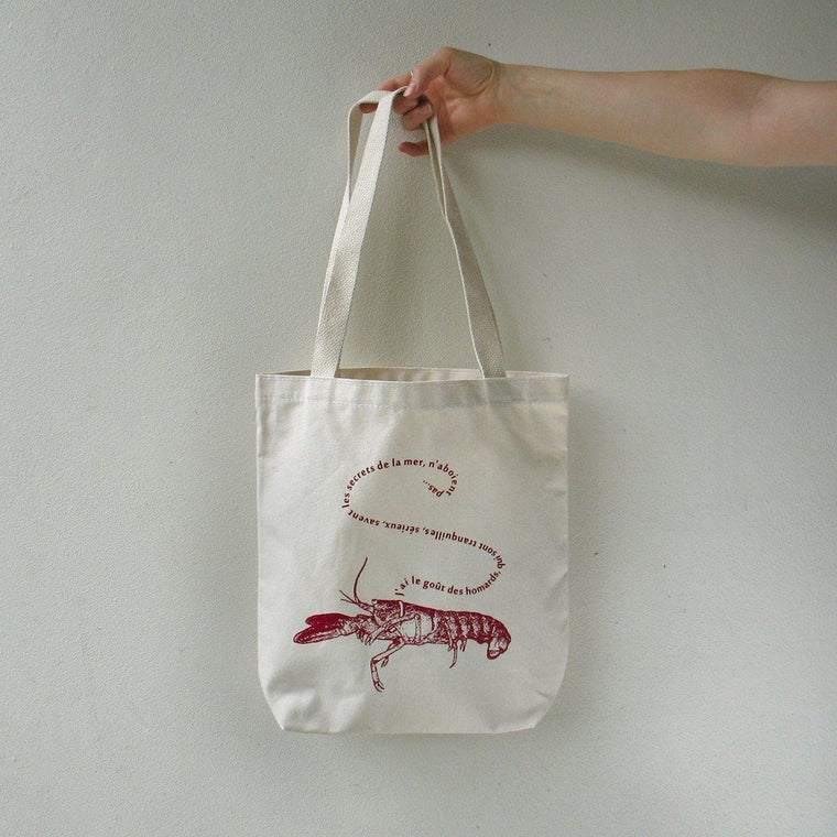 French Pet Lobster Tote Bag by Xenotees