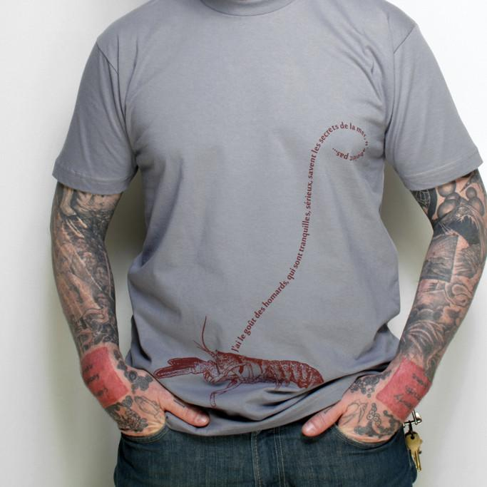Men's Nautical Lobster Print T-shirt by Xenotees