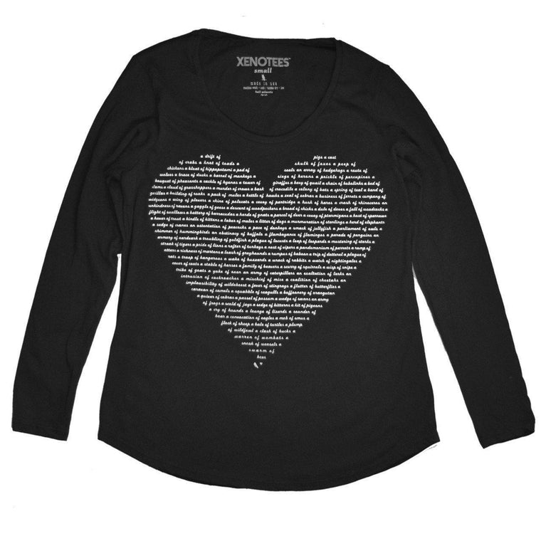 Womens Animal Lover Heart Shirt by Xenotees