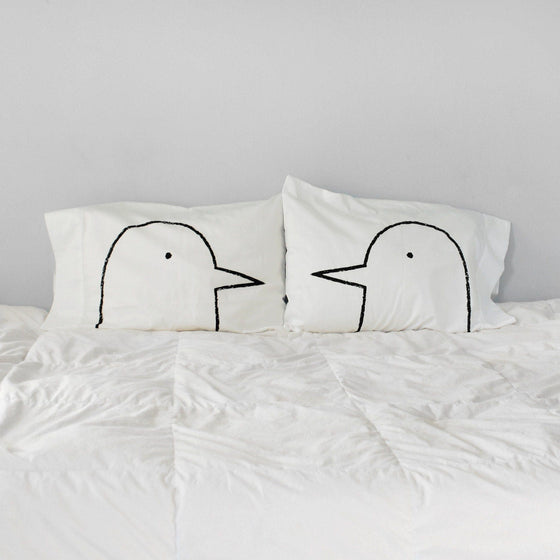 Lovebirds Pillowcases -  Set of 2 by Xenotees
