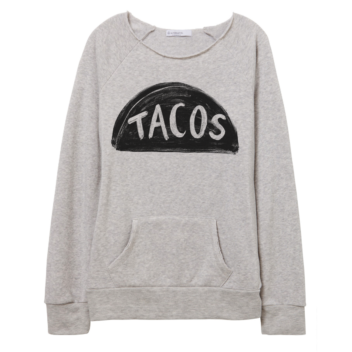 Womens Slouchy Off the Shoulder Taco Lover Sweatshirt