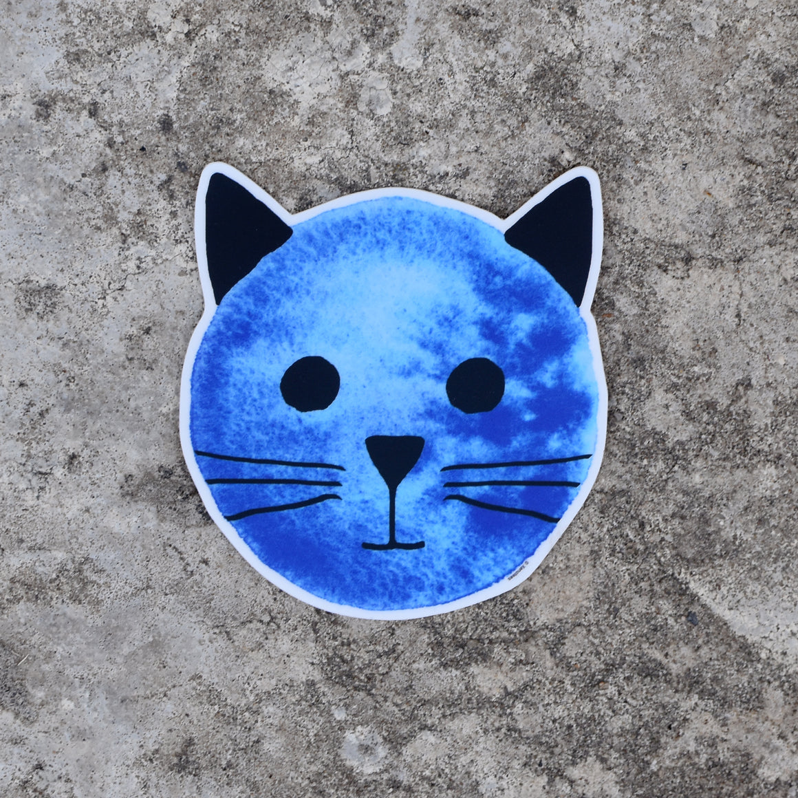 Blue Moon Cat Sticker by Xenotees