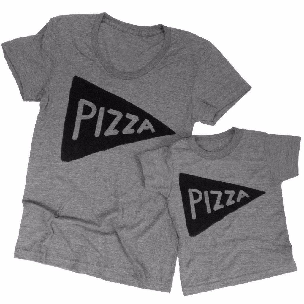 Mommy & Me Pizza Shirt Set Womens Clothing - by Xenotees  - 1