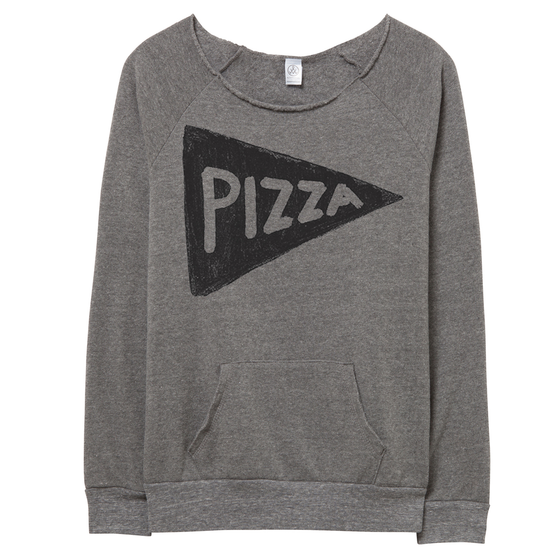 Women's Off the Shoulder Slouchy Pizza Sweatshirt
