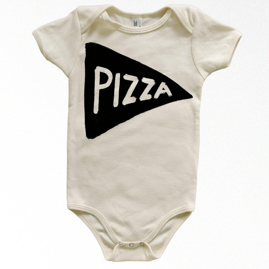 Organic Pizza Baby Bodysuit by Xenotees