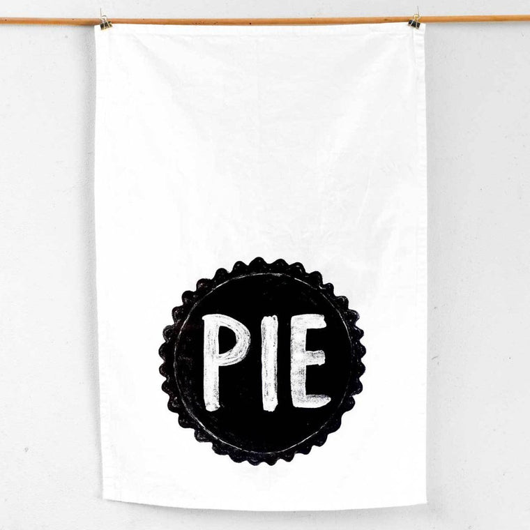 Pie Flour Sack Kitchen Towel by Xenotees