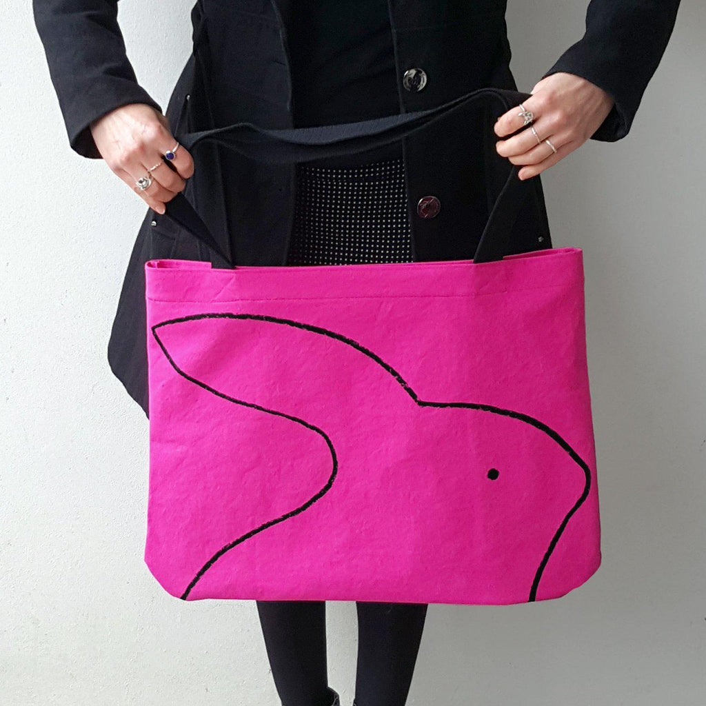 Over-sized Rabbit Tote Bag by Xenotees