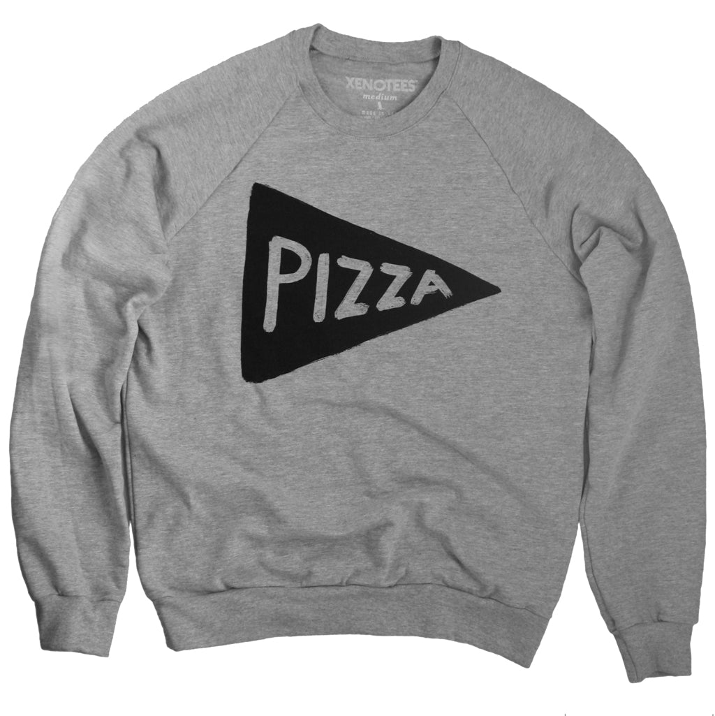 Unisex Pizza Crew Neck Sweatshirt by Xenotees