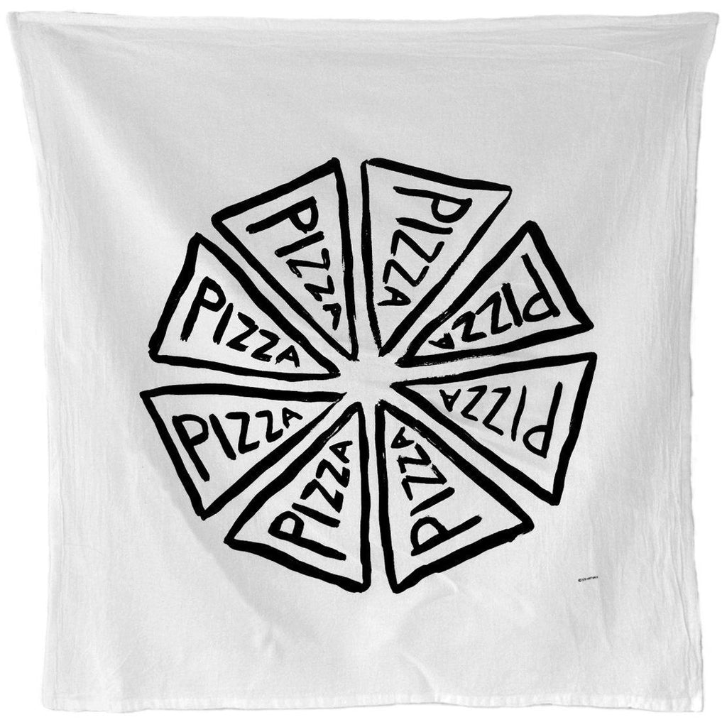 Pizza Gift, Flour Sack Tea Towel Handmade Pizza Slices