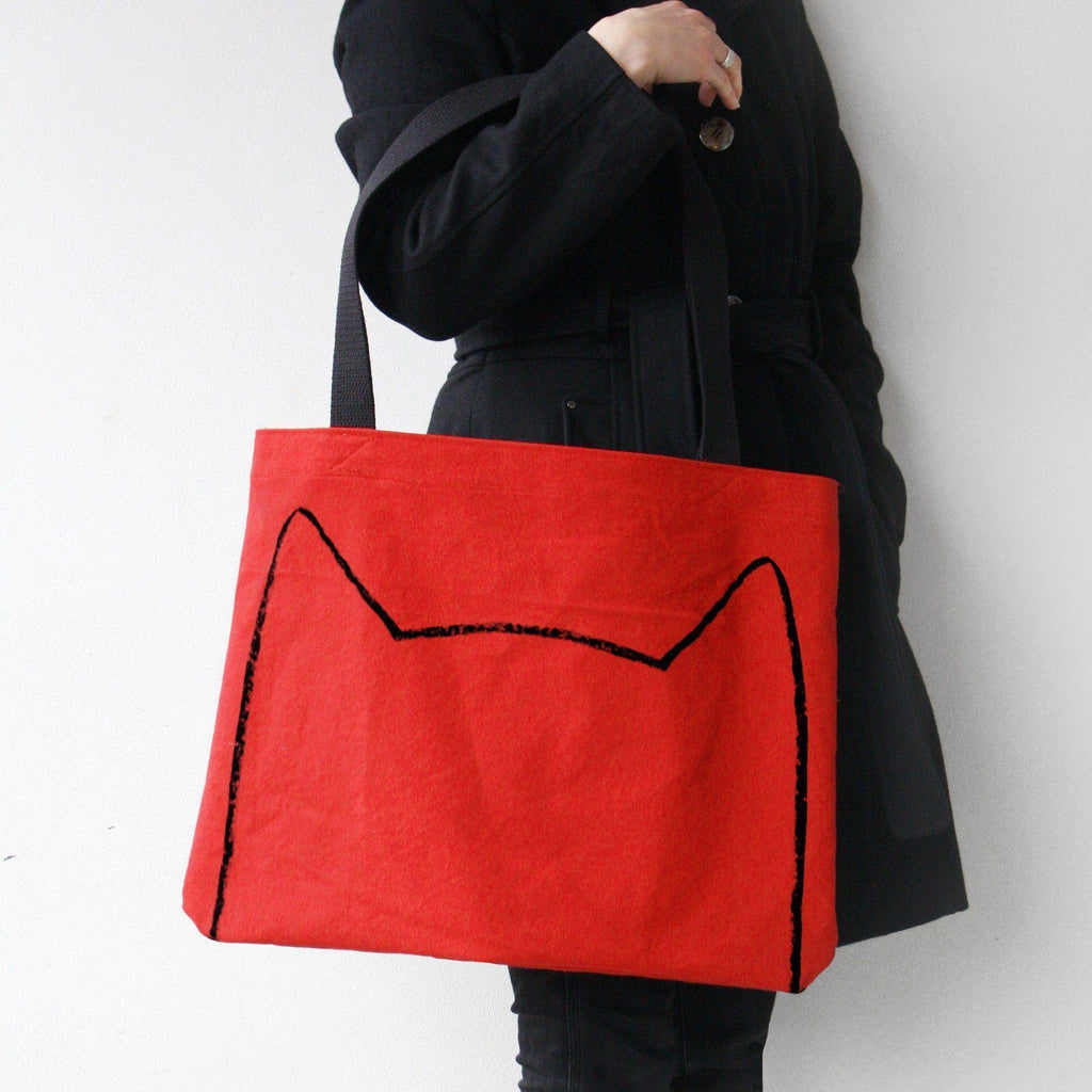 Cat Tote Bag Tote Bag - by Xenotees  - 1