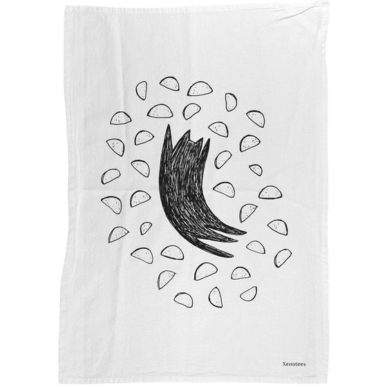 Taco Cat Dish Towel by Xenotees