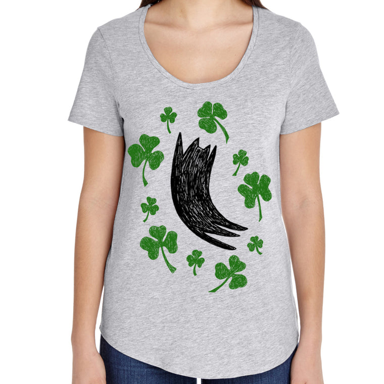 Women's Cat Shamrock Shirt / Ultra Wash by Xenotees