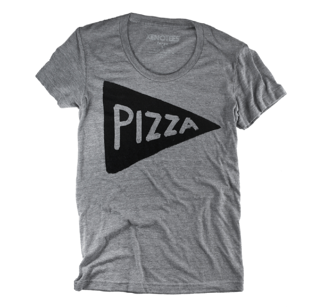 Womens Pizza Party T-shirt by Xenotees