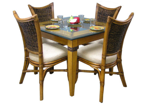 Beachwood 4 Chair and Square Table set