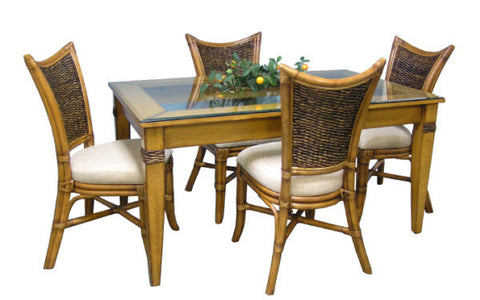 Beachwood 4 Chair and Rect. Table Set