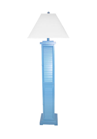 Louvered Floor Lamp Blue PR332BL