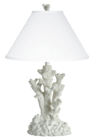 Coral Table Lamp in White PR024WH
