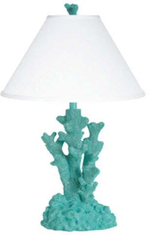 Coral Table Lamp Teal PR024TL