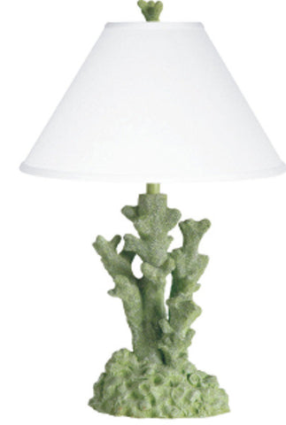 Coral Table Lamp Green PR024GR