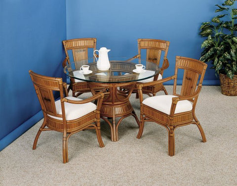 "Captiva 5 Piece Dining set with 48"" Glass"