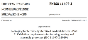 Gap Assessment Template - Sterile Packaging, Process Validation - ISO 11607-2 (2019 vs. 2006/2014)