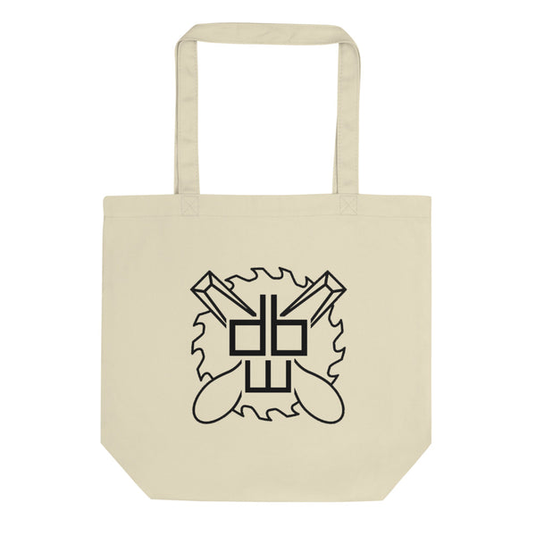 databae woodshop tote bag