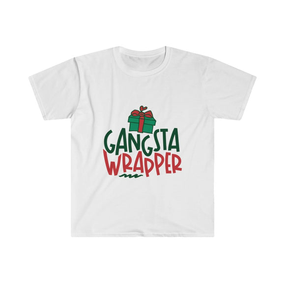 ♥ Festive GANGSTA WRAPPER Unisex Softstyle T-Shirt ♥ - MakersFolly®