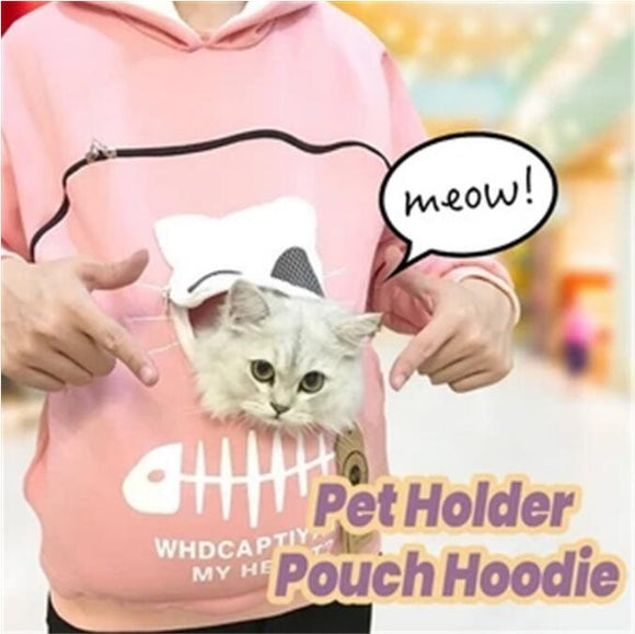 ♥ Kawaii Hooded Sweatshirt Pet Carrier Animal Pouch ♥ - MakersFolly®