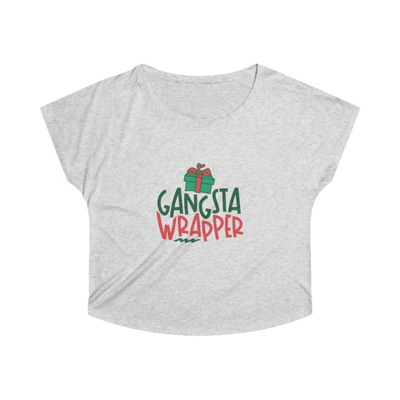 ♥ Funny and Cute GANGSTA WRAPPER Women's Tri-Blend Dolman ♥ - MakersFolly®
