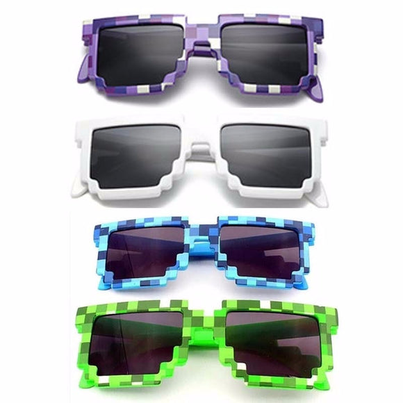♥ Minecrafters Square Action Game Cosplay Sunglasses for Kids ♥ - MakersFolly®