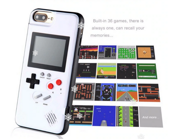 ♥ Gameboy Phone Case Cover for iPhone X XR XS Max For iPhone 6 7 8 Plus Color Display 36 Classic Game Console ♥ - MakersFolly®