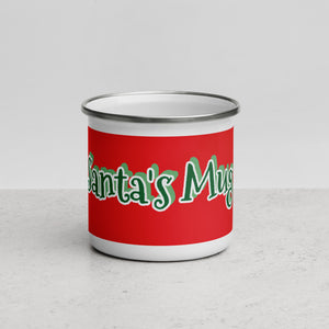♥ 12oz Santa's Milk and Cookies Premium Enamel Mug ♥ - MakersFolly®