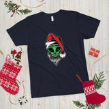♥ Fine Quality Unisex Alien Santa T-Shirt ♥ - MakersFolly®