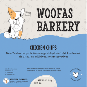 organic free range chicken treats for dogs