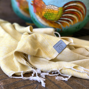 Yalova Eco-friendly Ultra Soft Marbled Blanket Throw - Yellow