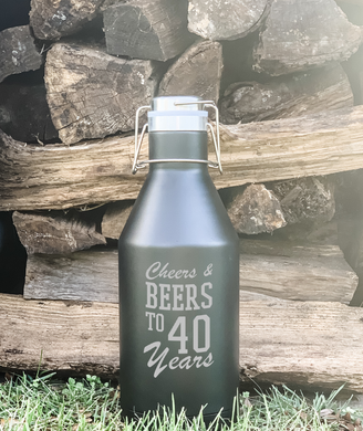 Cheers and Beers to 40 Years Growler